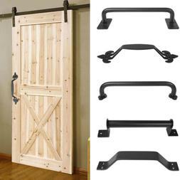 1/2/4x Sliding Barn Door Handle Matte Black Rustic Pull Gate
