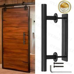 """12"""" Barn Door Handle Pull Set Black Stainless Steel Pull And"""