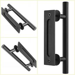 "12"" Sliding Barn Door Pull Flush Handle Gate Hardware Set Ca"