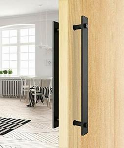 """14"""" Rustic Pull and Flush Handle Set for Sliding Barn Door"""
