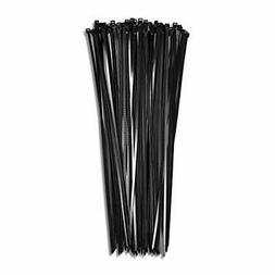 "15"" Black 120lb 100 Pack Heavy Duty Zip Ties Choose Size/Col"