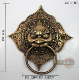 170mm Chinese antique bronze <font><b>door</b></font> <font>