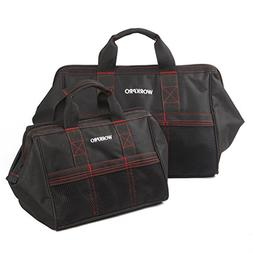 WORKPRO 2-Piece Tool Bag Combo 13-inch &18-inch, Zip-Top, Wi