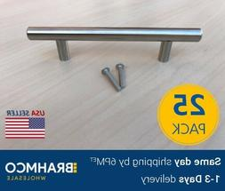 25 Modern Stainless Steel T Bar Pulls Knobs Handles Cabinet