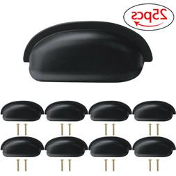 25X Matte Black Cabinet Pull Cupboard Handle Door Kitchen Dr