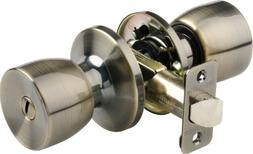 Brinks 2711-109 Bell Style Door Knob with Privacy Key for Be