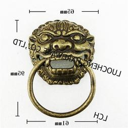 2pcs / LOT 65mm*95mm Ancient LION SHAPE <font><b>BRASS</b></