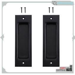2Pcs/Set Flush Pull 6-1/2inch Matte Black Frosted Handle For