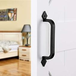 "SMARTSTANDARD 9-3/4"" Heavy Duty Barn Door Pull Handle for"