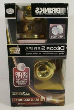 Brinks 4321-105 Ring Knob - Keyed Entry Door Knob, Polished