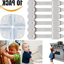 6 Child Safety Locks + Bonus 4 Baby Proofing Corner Guards &