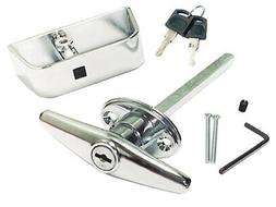 """6"""" Chrome T Handle Door Lock Replacement - shed, gate, playh"""