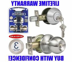Constructor Keyed Alike Entry Deadbolt Door Lock Knob Set Le