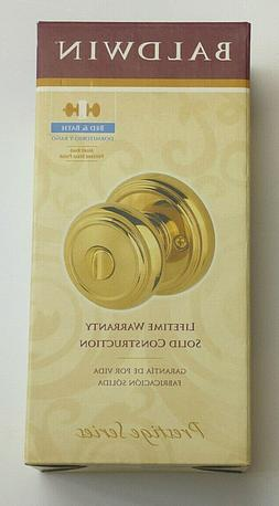 Alcott Bed and Bath Knob - Finish: Polished Brass