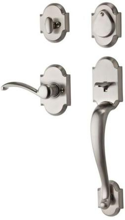 Kwikset Austin Single Cylinder Satin Nickel Handleset with A