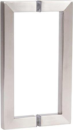 """Rockwell 8"""" Back to Back Square Pull in Brushed Nickel Finis"""