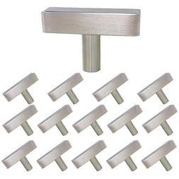 homdiy Brushed Nickel Cabinet Knobs 15 Pack Kitchen Knobs fo