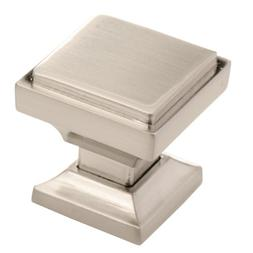 Southern Hills Brushed Nickel Square Cabinet Knobs - Pack of