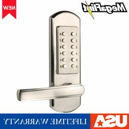 Bump Proof Mechanical Door Lock Keyless Entry Exterior Full