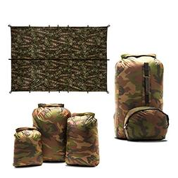 Aqua Quest Camo Lovers Combo - 100% Waterproof 5-Piece Kit -