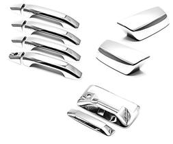 Sizver chrome mirror + door handle + Tailgate Covers For 201