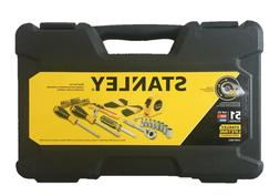 New Stanley 51-Piece Chrome Household Tool Set with Hard Cas