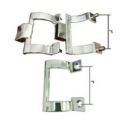 Chrome Shower Door Towel Bar Brackets and Inside Handle Pull
