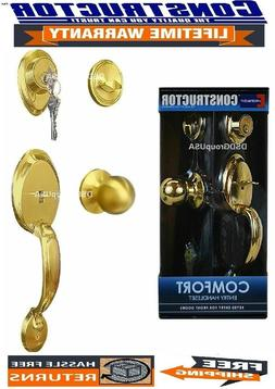 Constructor Comfort Entry Lock Set Exterior Door Knob Handle