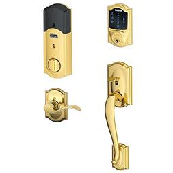 Schlage Connect Touchscreen Deadbolt paired Camelot Handlese