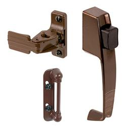CRL Chocolate Brown Screen and Storm Door Push Button Latch