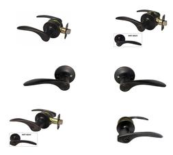 Oil Rubbed Bronze Door Handle Lock Lever knobs keyed passage