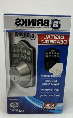 Brinks Digital Keypad Deadbolt, Key Deadbolt, Door Lock