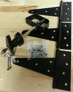 "Door Hardware Kit: T handle lock, 6"" T hinges, Screws. For S"