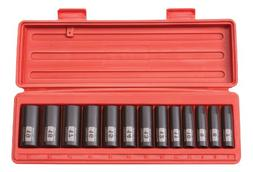 TEKTON 3/8-Inch Drive Deep Impact Socket Set, Metric, Cr-V,