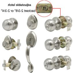 entry front door handle set lock deadbolt