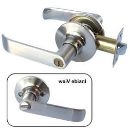 Entry Stainless Color Door Lever Handle Lock Keyed