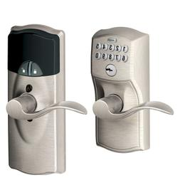 Schlage Z-Wave Home Keypad Lever, Satin Nickel, FE599NX CAM