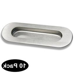 Probrico Flush Recessed Sliding Pocket Door Handles Oval 4-3