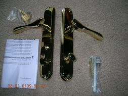 french door handle bright brass right hand