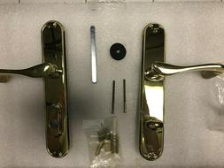 PELLA FRENCH DOOR HANDLE SHINY BRASS RIGHT HAND WITH KEY CYL