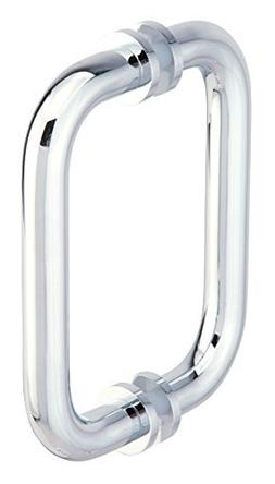 "Habitat - 6"" Double Shower Pull W/washers - Polished Chrome"
