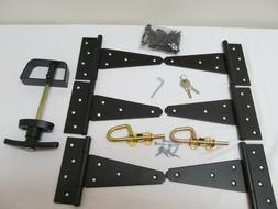 "Heavy Duty Shed Gate double door hardware kit: Kit 6"" Hinges"