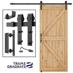 6.6 FT Heavy Duty Sturdy Sliding Barn Door Hardware Kit, 6.6