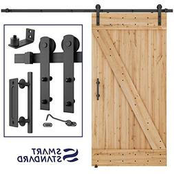 8 FT Heavy Duty Sturdy Sliding Barn Door Hardware Kit, 8ft D