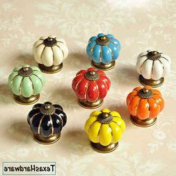 Pack 5, 1 Home Ceramic Door Knobs Cabinet Drawer Wardrobe Cu