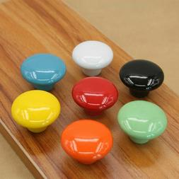Home Improvement Ceramic Round Cupboard Door Knobs Pull Hand