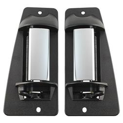 IAMAUTO 01350 Rear HEAVY DUTY METAL Door Handle Pair Chromed