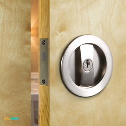 CCJH Invisible Barn Wood Sliding Door Gate Cup Handle Lock H