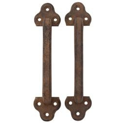 Iron Pull Handle for Doors Set of 2 Rustic Style for Barn Do