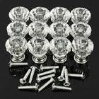 12Acrylic Crystal Door Knobs Drawer Cabinet Furniture Kitche